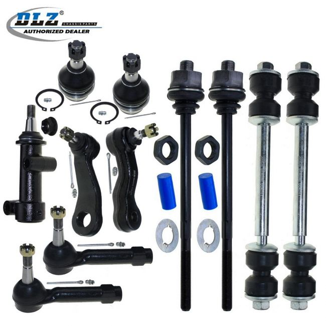 DLZ 6 Pcs Front Suspension Kit-2 Inner 2 Outer Tie Rod End 2 Sway Bar Link Compatible with GMC Yukon /& Yukon XL 1500 2001-2006